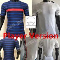 Spieler Version 2021 Frankreich Fussball Jersey 2 Sterne Mbappe Pogba Griezmann Giroud Kante World Home Football Hemd Camiseta de Futbol