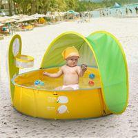 Baby Beach Tente UV-Protection Sunshelter Jouets Enfants Jouets Petite maison Étanche Tente de store étanche Portable Ball Pool Kids Tents VT1638