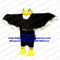 Mascote Trajes Preto Branco Longo Pele Eagle Hawk Tercel Tiercel Falcel Falcel Vulture Mascot Traje Caráter Filme Folheto Distribuição ZX665