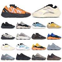 kanye 700 Erkek spor ayakkabı Kil Kahverengi Azael Alvah Güneş Parlak Mavi Yardımcı Siyah Vanta MNVN Turuncu Bone kadın açık spor eğitmenleri 36-45