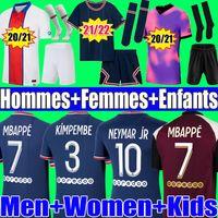 Jordan psg jersey 21 22 MBAPPE VERRATTI camisa de futebol tailandesa 2022 2021 NEYMAR DI MARIA KEAN camisa de futebol camisa de futebol masculina e jogos infantis