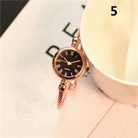 Wristwatches 1 Pcs Women Lady Girl Student Wrist Quartz Watch Mini Round Alloy Vintage Gift AIC88