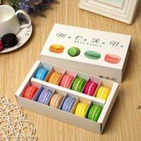 12 캐비티 마카롱 박스 홀더 음식 선물 포장 베이커리 컵 케이크 스낵 캔디 비스킷 머핀 박스 FWB9509
