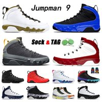 Bests Jumpman 9 9s Sapatos de Basquete Mens Universidade Estátua de Ouro Racer Ginásio Azul Ginásio Red Space Jam Alterar o mundo Criado Oregon Ducks Branco Barco Barco Jones SportsD Sneakers