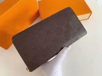 مصمم محفظة عالية الجودة البديهية بطاقات الأعمال حاملي سيدة طويلة عملة محفظة الأزياء سستة محافظ بطاقة حامل