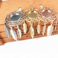 Accesorios de joyería de bricolaje 12 Constelación Dreamcatcher Soportes de fondo Tiempo Gema Sublimación Colgante en blanco para el collar de impresión de transferencia en caliente