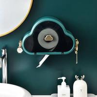 トイレットペーパーホルダータイプ防水パンチフリーロールホルダー収納箱バスルームの壁掛けティッシュウォッシュタオルケース