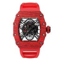 Skone Brand 43 * 50 мм циферблат мужские часы мода атмосфера удобный ремешок смотреть прозрачные кварцевые движения бизнес мужские наручные часы