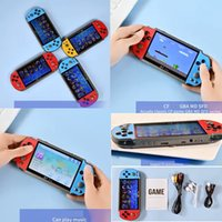 X7 Plus Game Console Portable MP4 5 Double Rocker 8G Video Music LCD Rechargeable Handheld FC GBA CPS PAP PXP3 5.1 Inch Game Players