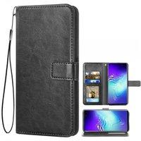 Capas de celular para Samsung Galaxy S10 S10E S10PLUS S9 S8 Note9 Note10 J4 J5 J6 J7 Carteira de couro Caixa com bolso de cartão
