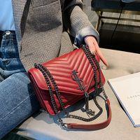 2021 Mode Frauen Tasche Kleine duftende Stil Lingge Kette Schulter Crossbody Messenger Handtaschen