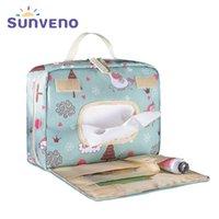 Sunen Sunen Original Frade à prova d 'água saco de moda hangbag Mamãe reutilizável saco molhado para cuidados com cuidado de bebê Maternidade Bag Stuff 210727