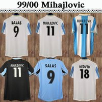 2000 2001 Claudio Mens Soccer Jerseys SS Lazio 1991 Retro # 10 Gascoigne Camisa de Futebol Home 99 20 Mancini Inzaghi Nedved Manga Curta