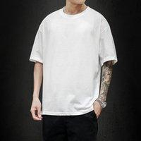 T Gömlek Vhorz Düz Boy T-Shirt Erkekler Vücut Geliştirme Ve Fitness Losse Casual Yaşam Tarzı Giyen Adam Streetwear Hip-Hop Üstleri