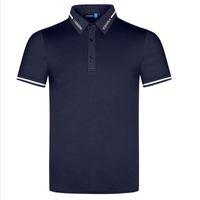 T-shirt de verão manga curta camisas de golfe 4 cor roupas masculinas Rápido tela de secagem ao ar livre esportes de lazer de esportes