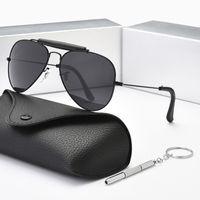 2021 جودة عالية كلاسيكية جولة الرجال الأزياء النظارات الشمسية السيدات شاطئ في الهواء الطلق ركوب الدراجات نظارات uv400 الشمس قناع الاستقطاب زجاج عدسة 8 لون الفرقة box3422