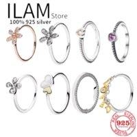 Cluster Ringe Authentic 925 Sterling Silber Prinzessin Tiara Crown Funkelnde Liebe Herzpfanne für Frauen Engagement Schmuck Jubiläum