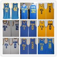 Uomini Ucla Bruins College Basket Baskey Jersey Russell Westbrook Lonzo Ball Zach Lavine Reggie Miller Bill Walton Kevin Love Cucito Blu bianco giallo