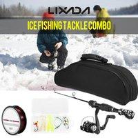 Boat Fishing Rods Lixada Ice Spinning Rod Reel Combo Full Kit Pole Set With Fish Line Lures Hooks Bag Case