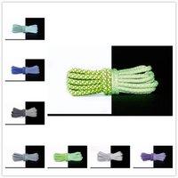 2021 Cuerdas unisex de Shoelace Multicolor encerado Cordón redondo Cordillos de zapato DIY de alta calidad sólido 100-150cm Colorido 14