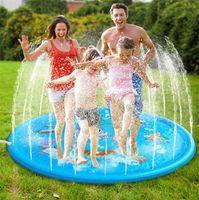 Çocuklar Açık Su Oyunları Sıçrama Oyna Wading Havuz Bahçe Çeşmesi Paspaslar 170 cm Bebekler için Sprey Pad Fıskiye