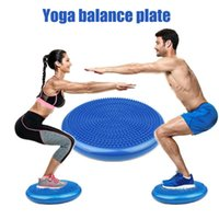 Yoga boll hållbar uppblåsbara massage fitness midja vridning skivbräda fötter rehabilitering vadderade bollar
