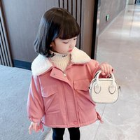 Jackets Girls Long Jacket Outerwear Solid Color Girl Coats Kids Thick Warm Children's Toddler Clothing