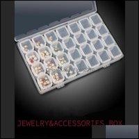 Boxes Bins Housekee Organization Home & Garden28 Grids Diamond Painting Kits Plastic Storage Box Nail Art Rhinestone Tools Beads Case Organi