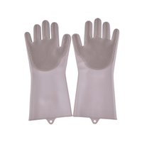 Washing Brush Silicone Glove Resuable Household Scrubber Anti Scald Dishwashing Gloves For Kitchen Bathroom Cleaning Tools