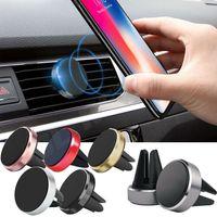 Mini soporte de montaje de coche magnético Air Soportes de teléfono celular Universal para iPhone Samsung Huawei Android Smartphones