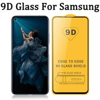 9D Full Glue Cover Tempered Glass Phone Screen Protector for Samsung Galaxy E02 E62 F02 F12 F12S F41 F62 J2 S20 FE S21 NOTE20