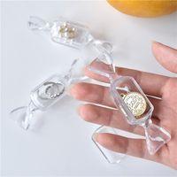 THVU 미니 포장 상자 휴대용 투명 한 사탕 저장 스토리지 목걸이 링 작은 귀 보석 보석 상자 선물 LH3