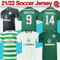 21/22 셀틱 축구 유니폼 홈 Edouard Elyounoussi Griffiths 녹색 축구 셔츠 남성 세 번째 화이트 2021 2022 골키퍼 축구 유니폼 맞춤 성인