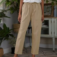 Women's Pants & Capris Autumn Straight-Leg Pure Lace Up Korean Loose Leisure High Waist Spring Long Daily Trousers Street Clothes