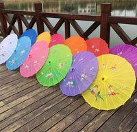 Adultes Taille Japonais Chinois Oriental Parasol Parapluie de tissu à la main pour la décoration de la photographie de mariage Parapluie FWA8095