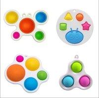 Baby sensory enkla dimple leksak gåvor vuxen barn rolig anti-stress push it stress reliver bubbla fidget leksaker i lager nyaste stilar fest favor