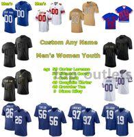 2021 Giants American Football Jerseys Matt Cole Jersey Carter Coughlin Tae Crowder Riley Dixon Devante Downs Evan Engram Greaham Gano Custom genäht