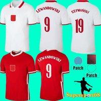 20 21 كرة القدم الفانيلة POL فريق كرة القدم قميص كرة القدم مجموعة Lewandowski Milik Piszczek الرجال موحدة Polonia Kids Kit 22 FC مخصصة Polska World
