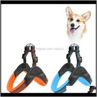 Collars Leashes Supplies Home & Gardenzl Adjustable Pet Reflective Harness With Leash Dog Chest Strap For Medium Large Dogs Pets Aessories D