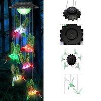 Solar Wind Chimes Kolibri-Lampe Geschenke an Frauen Mutter Frau Oma, mobile bunte Licht für Home Party Yard Garten Dekoration