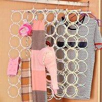 Hangers & Racks Scarves Holder Foldable Tie Belt Hook Organizer Rattan Weave Hanger Collapsible Space-Saving Plastic Shawl Towels
