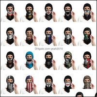 Caps Protective Gear Cycling Sports & Outdoorscs Cosplay Ghost Skl Mask Tactical Fl Face Masks Motorcycle Biker Balaclava Breathing Dustproo