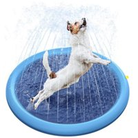 Pet Dog Water Spray Pad Summer Outdoor Inflatable Play Fountain Kids Lawn Bathing Pool Sprinkler Toy Kennels & Pens
