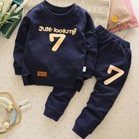 Childrens Clothes Autumn And Winter Boys Girls Long Sleeved O Neck 2 6 Years Old Baby Pants Sets