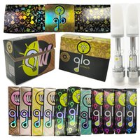 Glo Extracts Carts Ceramic Vape Cartridges 0.8ml 1ml Atomizer Glass Tanks 510 Thread Oil Atomizers 4*2.0mm Intake Hole Holographic Packaging Box Empty Vaporizer Pen