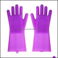 Household Tools Housekee Organization Home & Garden Sile Cleaning With Brushes Magic Washing Glove For Dishes Bath Cook Pet Grooming Anti-Sc