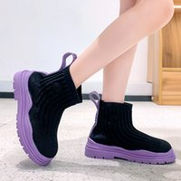 2021 spring and autumn new boys' and girls' flying woven socks shoes short boots macarone casual sports shoes walking show dance shoes