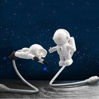 Astronaut LED Night Lights USB Reading Light Protect Eyes for Playing Computer Taking Care of Kids White