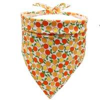 Pet Cat Собаки треугольник шарф фрукты Petscarf Saliva полотенце собака одежда фрукты печатание милый узор трианлсcarf Universal Salivatowel OWE8171