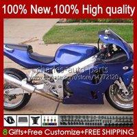 Kawasaki Ninja ZX-636 ZX 6R 636 600CC 600 CC 1994 1995 1996 1997 Glossy Blue Blk Bodyworks 50HC.92 ZX600 ZX 6 R ZX636 ZX-6R 94-97 ZX600C ZX6R 94 95 96 97 페어링